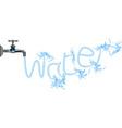 Faucet tap water plumbing vector