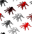 Halloween seamless pattern with black spiders vector