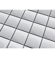 Glossy grey tile background vector