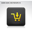 Shop sale shopping trolley icon gold vector