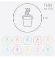 Hot water sign icon hot drink symbol vector