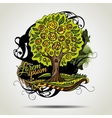 Abstract grunge decorative tree vector