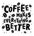 Coffee retro quote vector