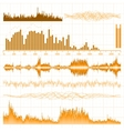 Sound waves music elements vector
