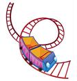 A roller coaster ride vector