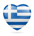 Heart icon of greece vector