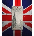 Big ben tower london landmark hand-drawn sketch vector