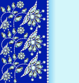 Background with a silver flowers vector