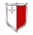 Malta flag button vector
