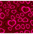 Love hearts seamless red pattern eps10 vector