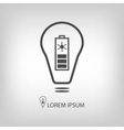 Bulb with solar battery as eco energy symbol vector