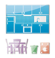 Kitchen furniture vector