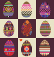 Card with big collection of easter eggs vector