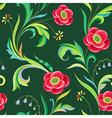 Pattern elegant flower vector
