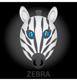 Zebra cartoon character head eps10 vector