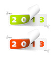 2012 2013 new year stickers vector