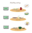 Healthy food without fast food vector