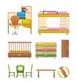 Nursery and children furniture vector