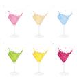Cocktails set vector