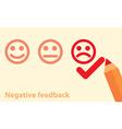 Negative feedback concept vector