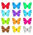 Set of colored butterflies vector