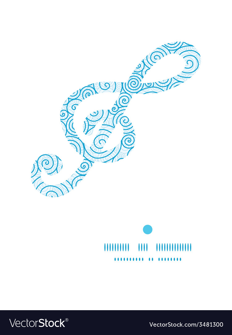 Abstract swirls g clef musical silhouette pattern vector | Price: 1 Credit (USD $1)