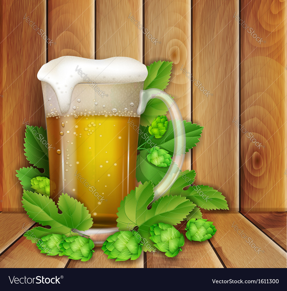Beer and hop vector | Price: 1 Credit (USD $1)