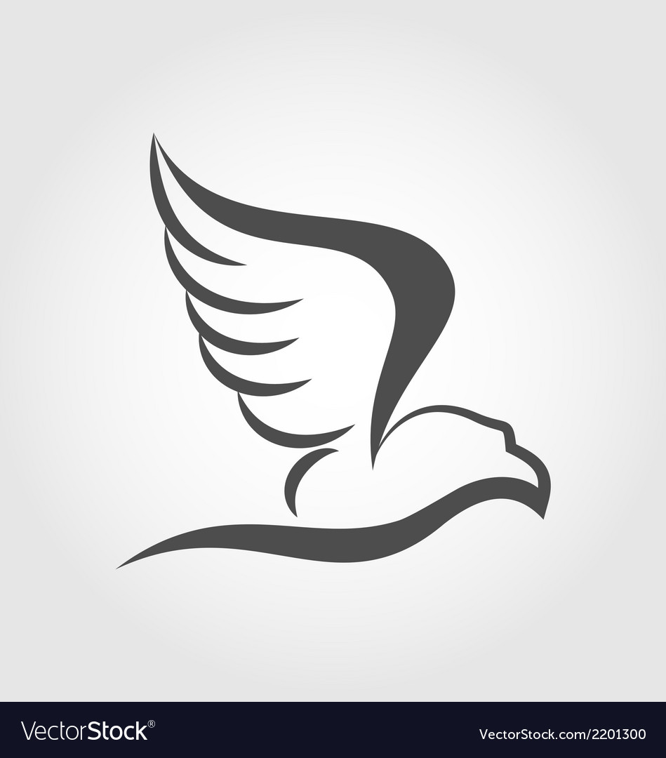 Flying eagle in the form of the stylized tattoo vector | Price: 1 Credit (USD $1)