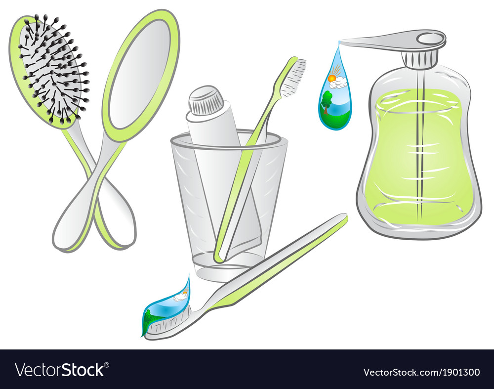 Hygiene items vector | Price: 1 Credit (USD $1)