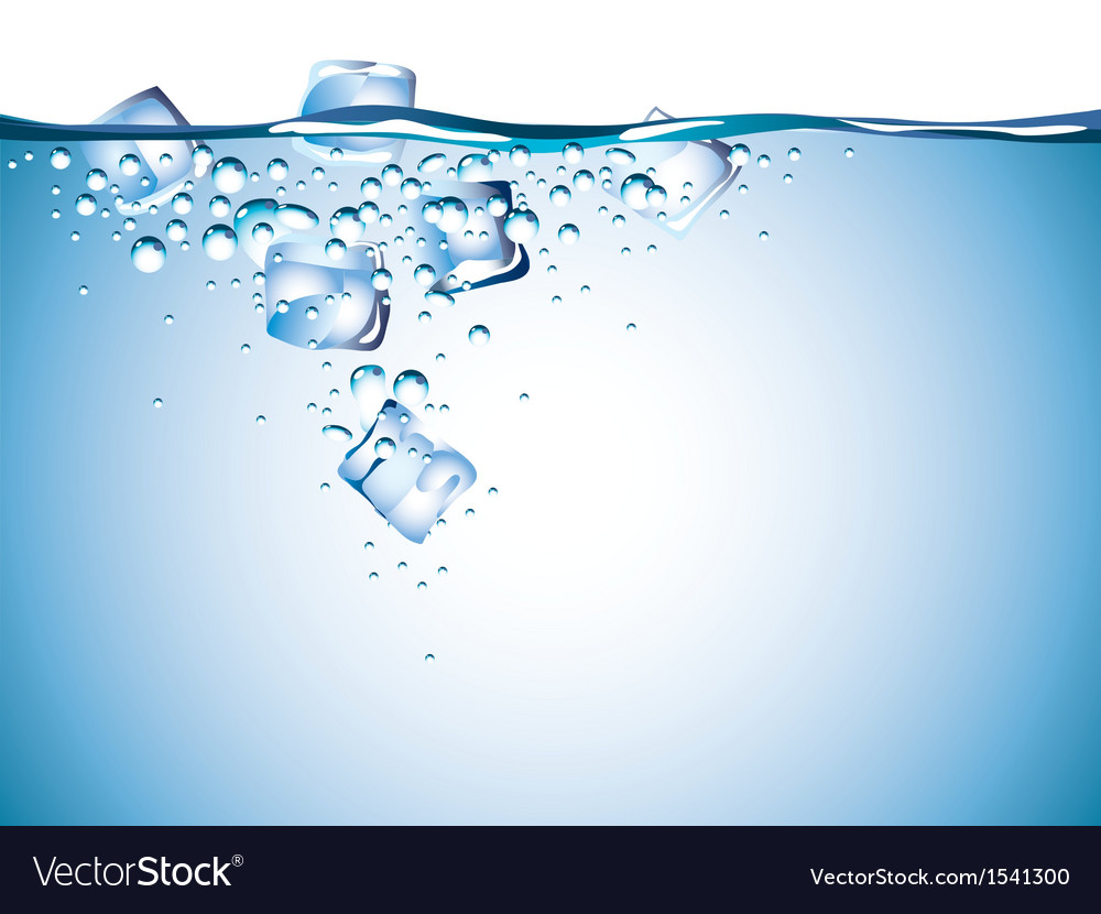 Ice water vector | Price: 3 Credit (USD $3)