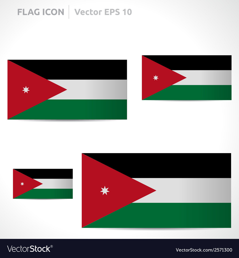 Jordan flag template vector | Price: 1 Credit (USD $1)