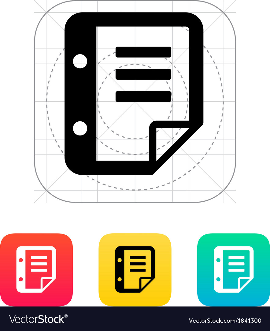 Notepad flip icon vector | Price: 1 Credit (USD $1)