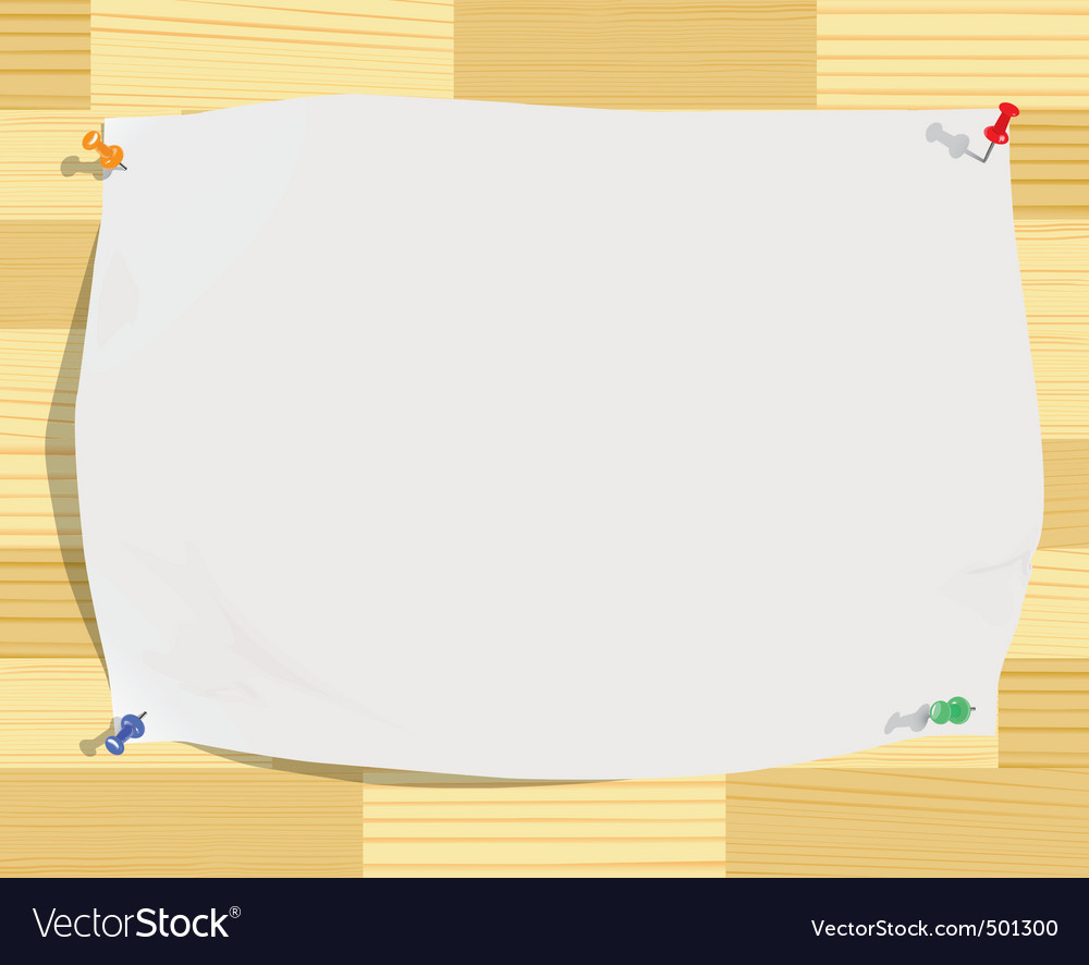 Paper sheet on wood background vector | Price: 1 Credit (USD $1)