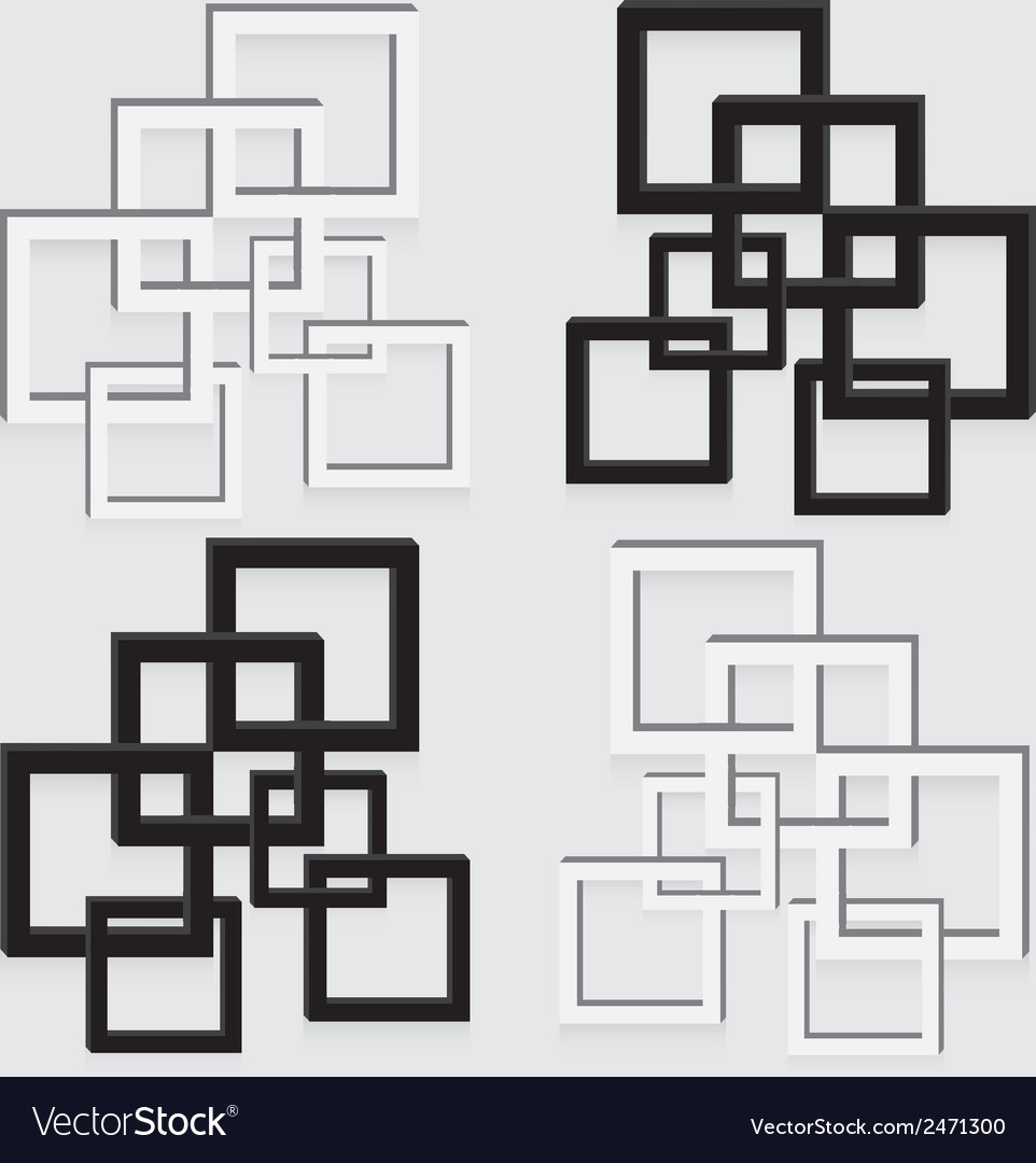Picture frame black and white abstract decoration vector | Price: 1 Credit (USD $1)