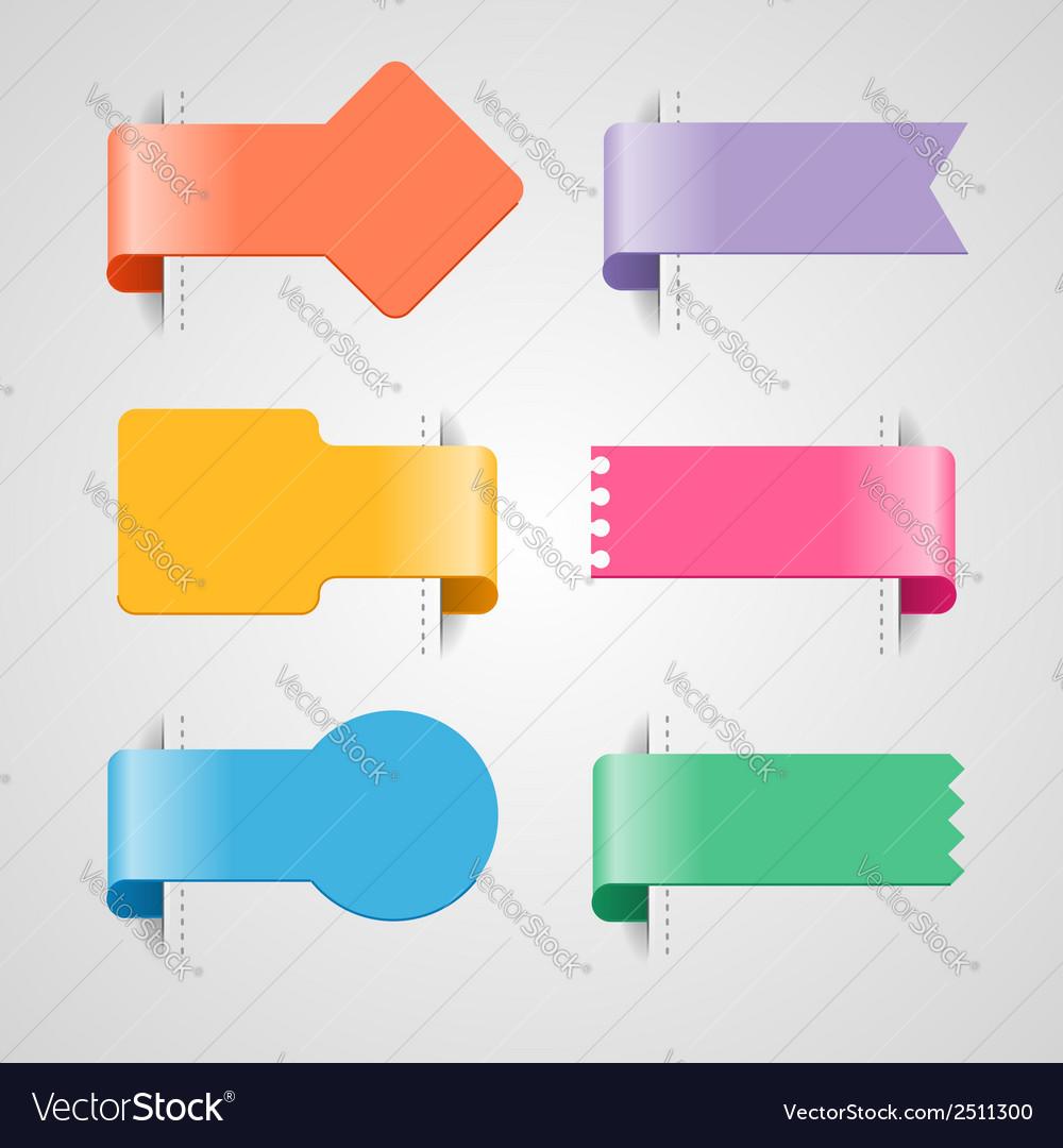 Ribbon tags vector | Price: 1 Credit (USD $1)