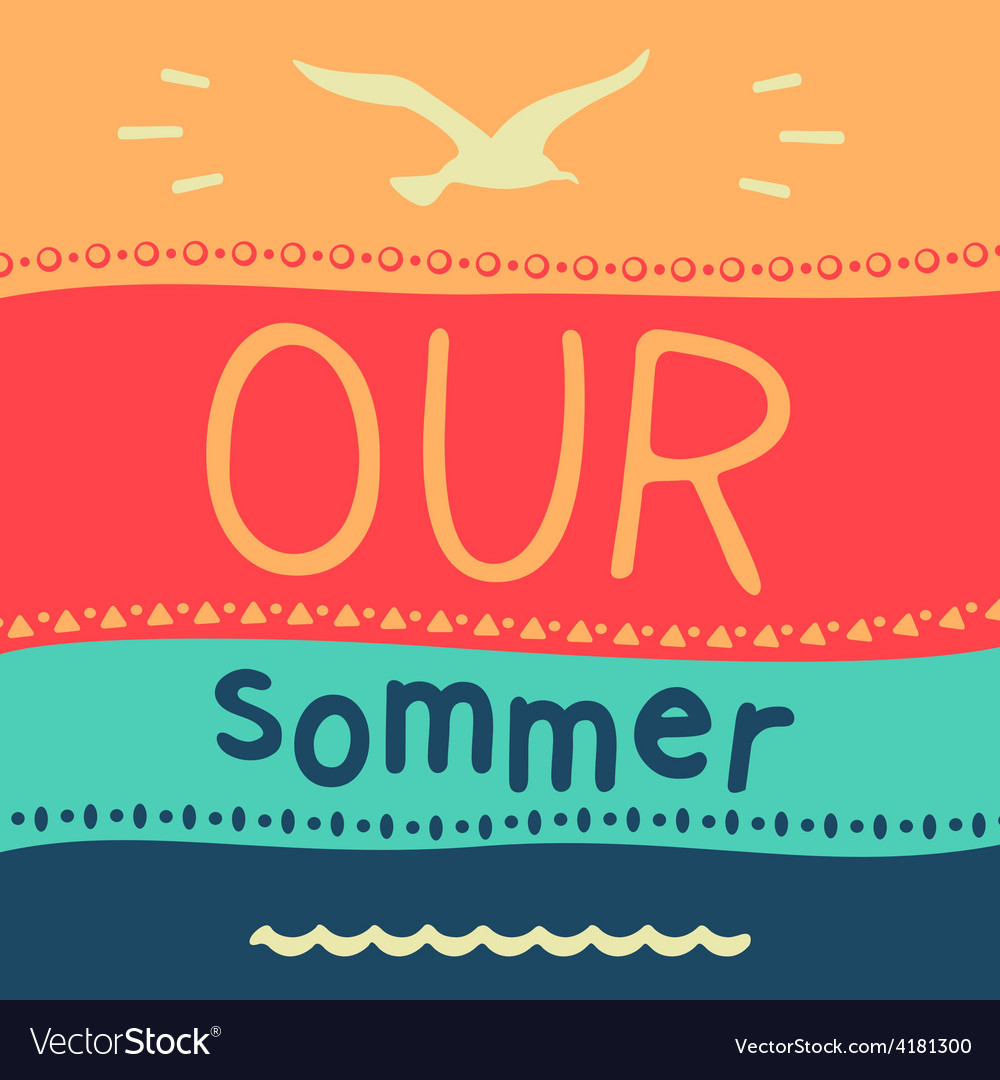 Symbol of summer vacation vector | Price: 1 Credit (USD $1)