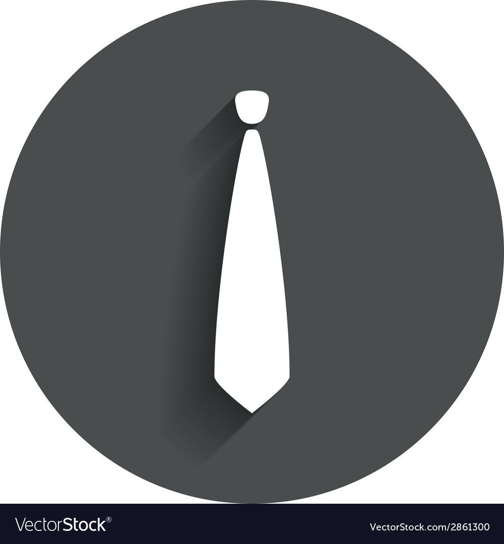 Tie sign icon business clothes symbol vector | Price: 1 Credit (USD $1)