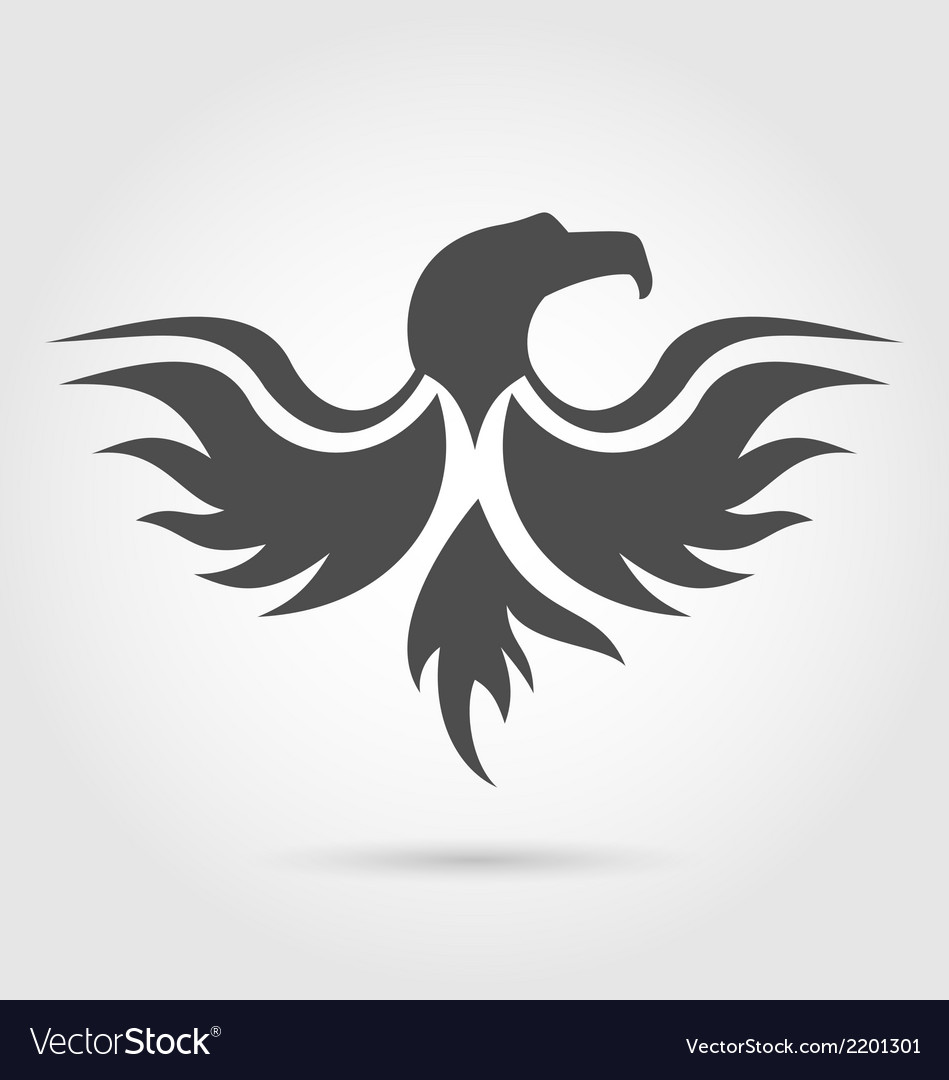 Abstract label of eagle silhouette vector | Price: 1 Credit (USD $1)