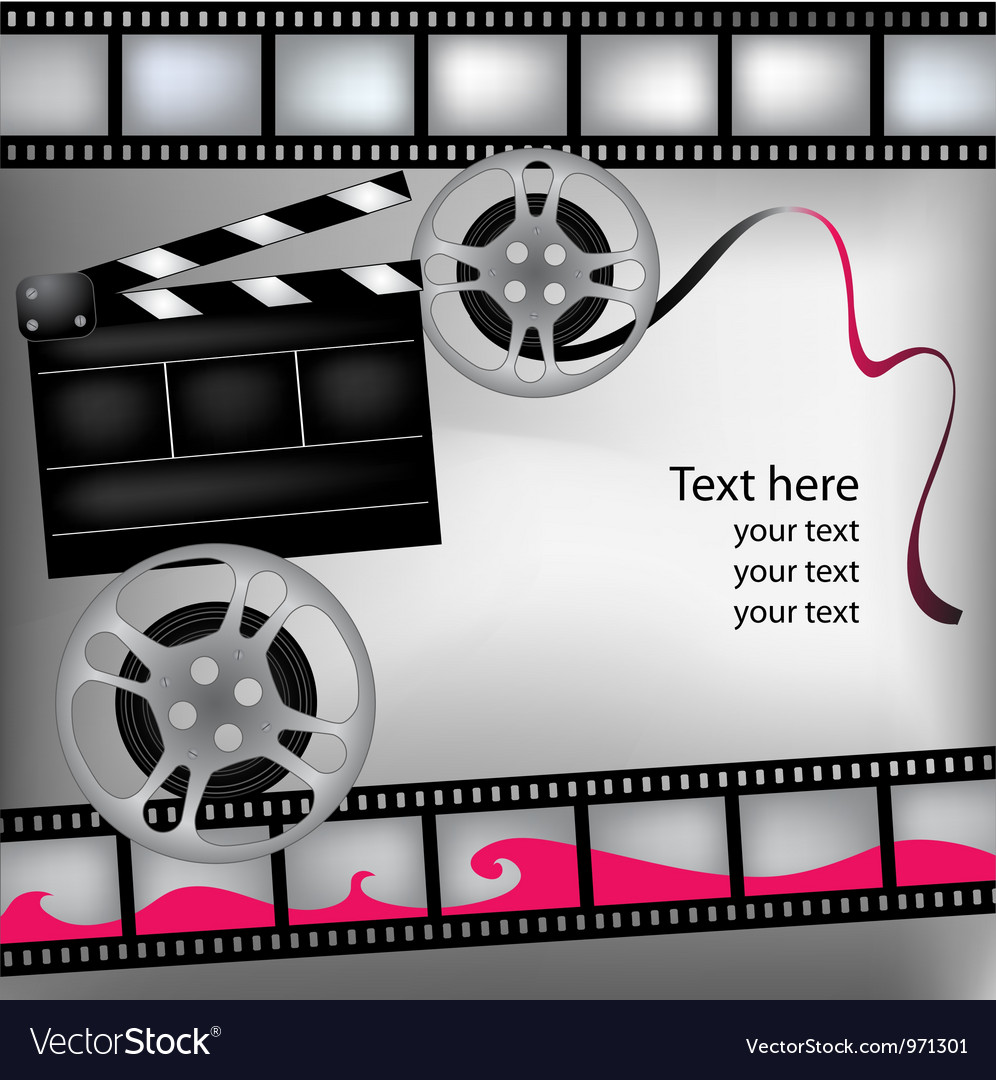 Background with film and clubboard vector | Price: 1 Credit (USD $1)