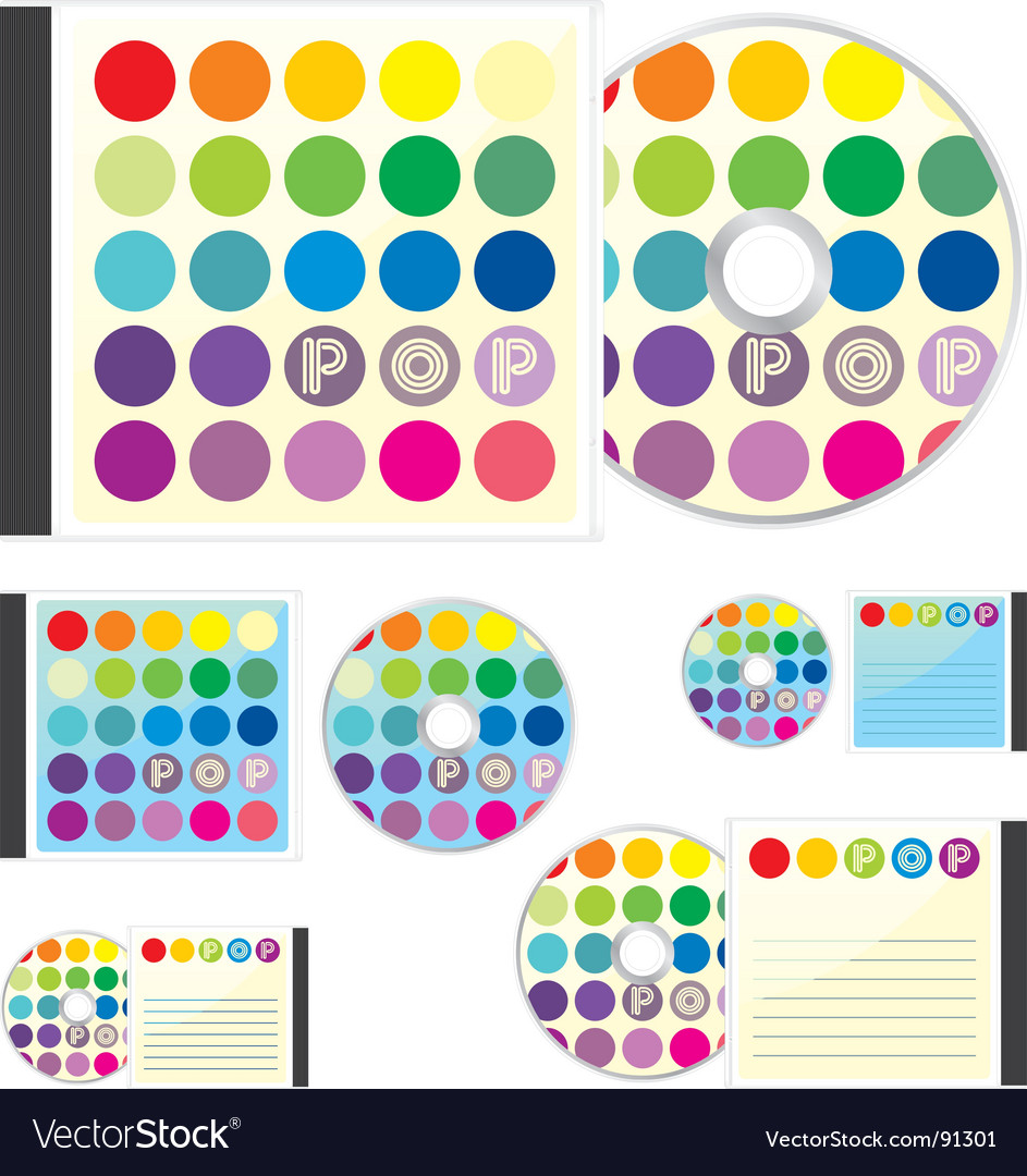 Compact disks with pop layout vector | Price: 1 Credit (USD $1)