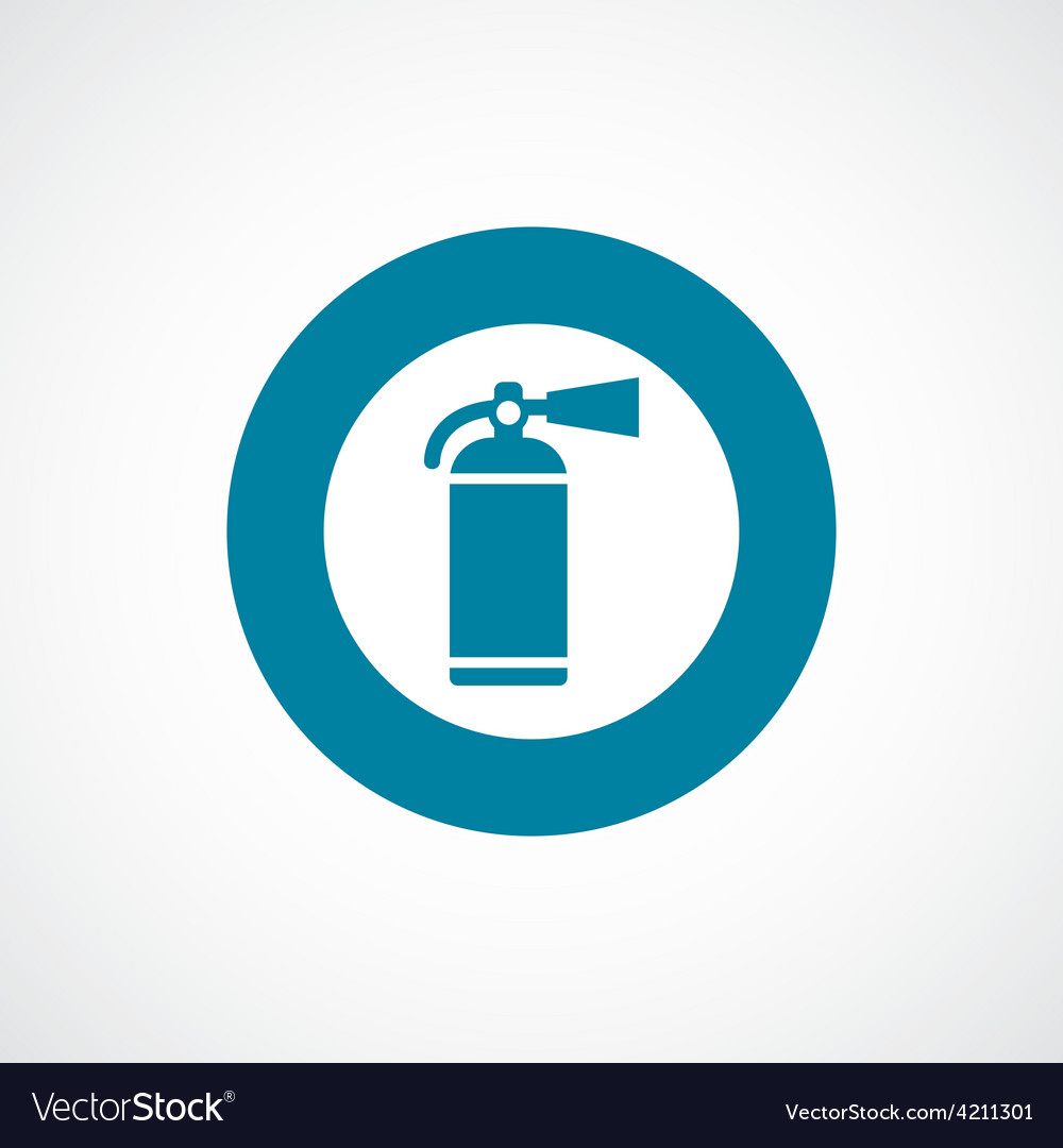 Fire extinguisher icon bold blue circle border vector | Price: 1 Credit (USD $1)