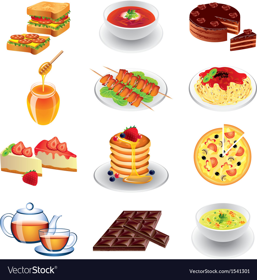 Food different vector | Price: 3 Credit (USD $3)