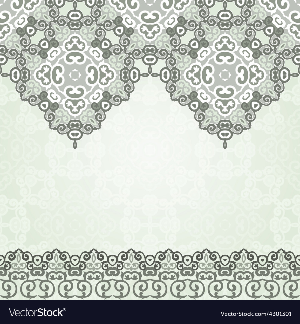 Luxury gold border on seamless background vector | Price: 1 Credit (USD $1)