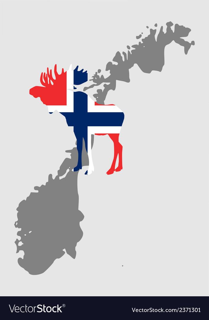 Norwegian moose vector | Price: 1 Credit (USD $1)