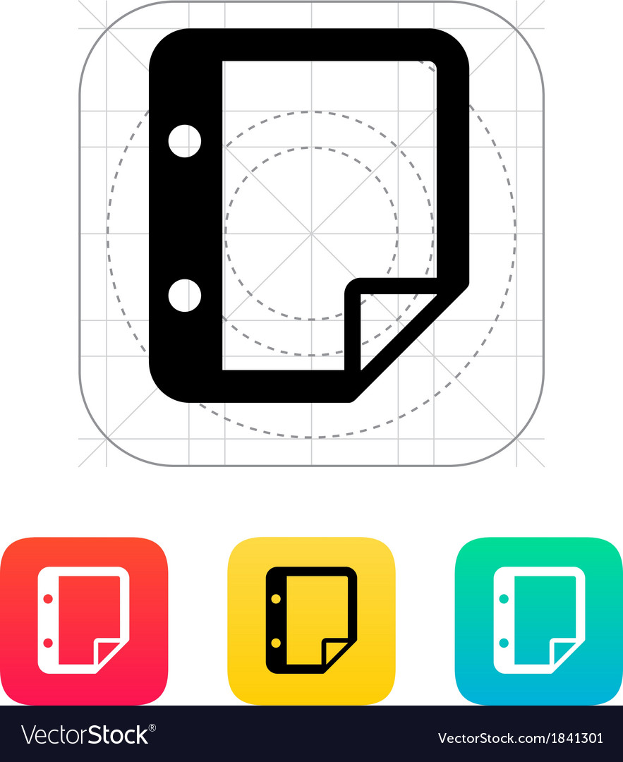 Note with holes icon vector | Price: 1 Credit (USD $1)