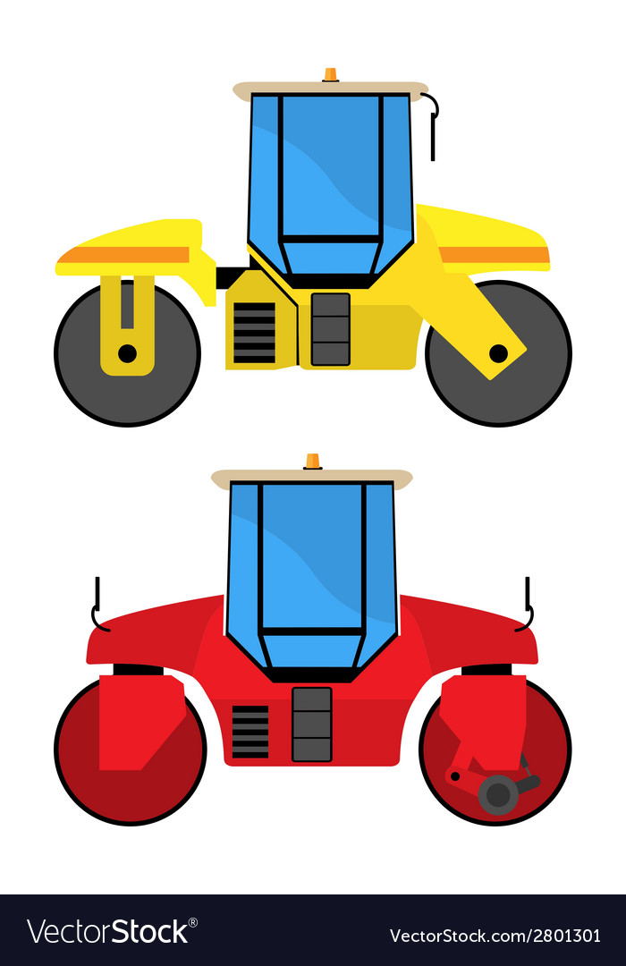 Road rollers vector | Price: 1 Credit (USD $1)