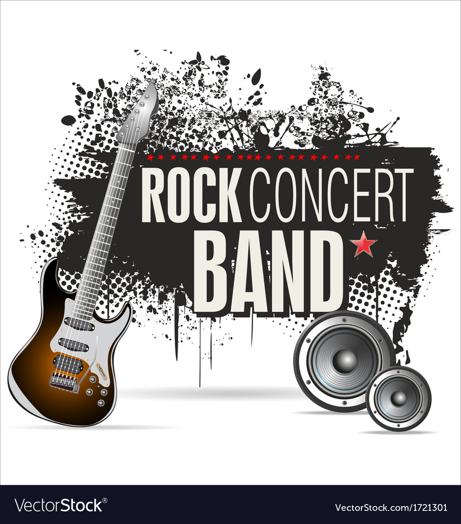 Rock concert grunge banner vector | Price: 1 Credit (USD $1)