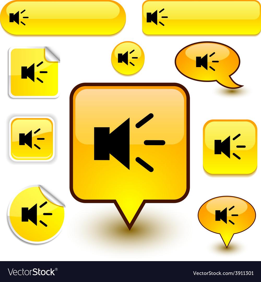 Sound signs vector   Price: 1 Credit (USD $1)