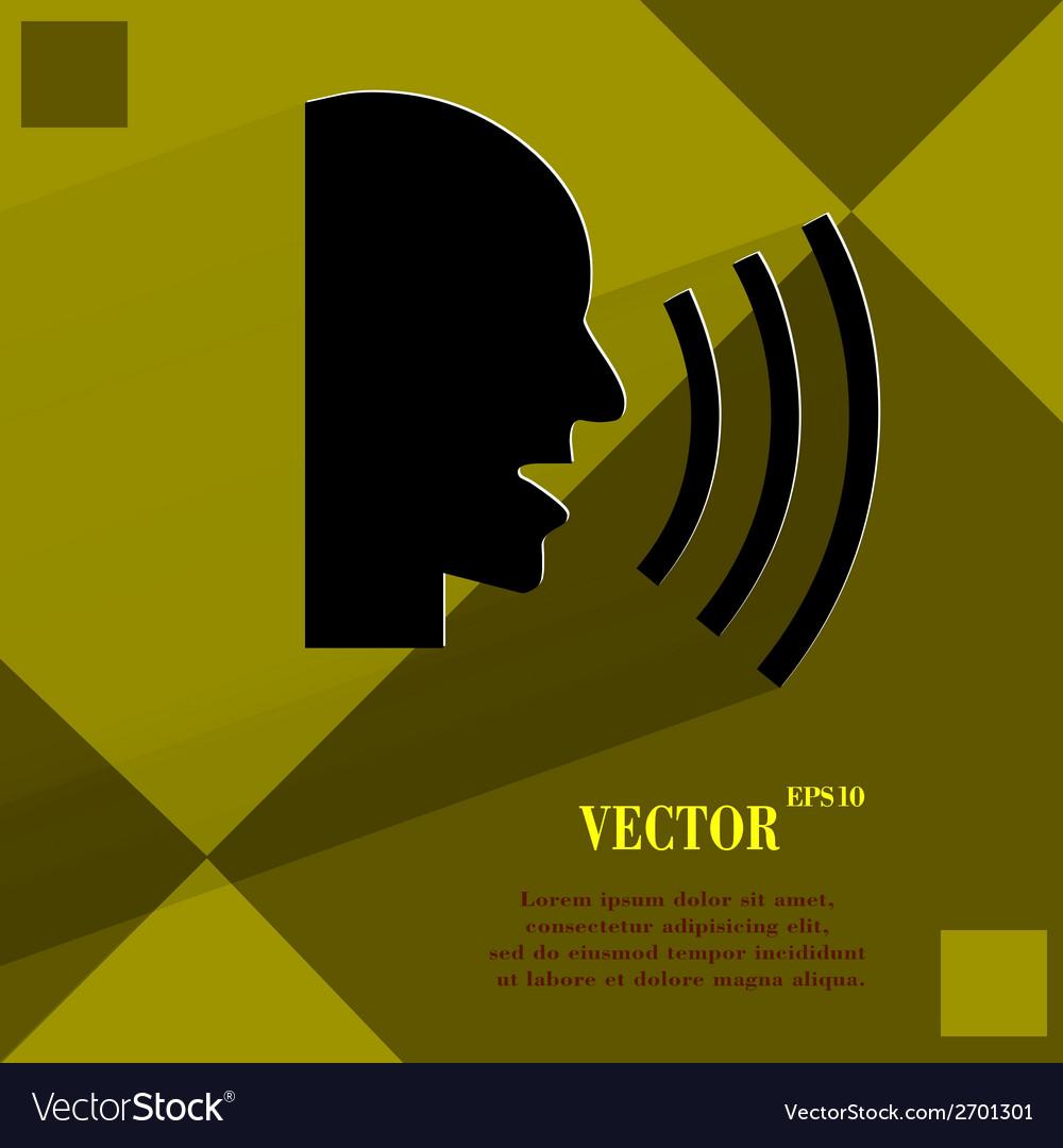 Talking flat modern web design on a flat geometric vector   Price: 1 Credit (USD $1)