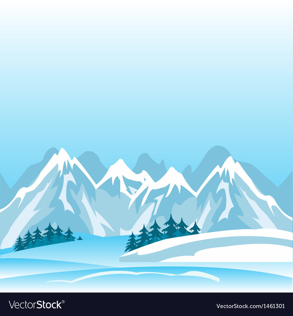 Winter in mountain vector | Price: 1 Credit (USD $1)